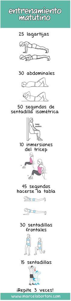 Rutina de ejercicios para iniciar bien el día. #TheTaiSpa #BuenosDiasTai…