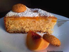 torta morbida alle pesche e amaretti