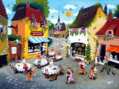 With an Open Heart by Marie-Louise Batardy - GINA Gallery of International Naive Art