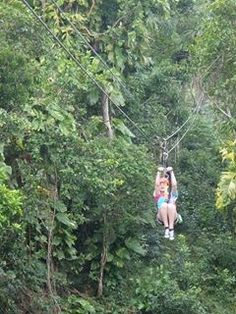 Zip lining.. even though ive done it i wanna do it in an actual height.. not like 40 feet ha