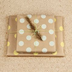 No need for messy stamping to make this colourful polka dot wrapping paper. Easy and quick step by step tutorial