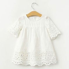 2017 Spring Summer Baby Girls Blouses White Lace Hollow Tops Kids Shirts Cute Sweety Baby Gilrs Shirt Casual Children Clothing Source by seyrancl Kids Outfits Girls, Little Girl Dresses, Girl Outfits, Girls Dresses, Baby Girl Fashion, Kids Fashion, Look Fashion, Baby T Shirts, Lace Shirts