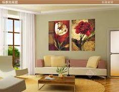 Resultado de imagen para decoracion de salas modernas imagenes Vintage Flowers, Red Flowers, Canvas Frame, Canvas Wall Art, Images Murales, Color Naranja, Modern Art Paintings, Canvas Pictures, Wall Pictures