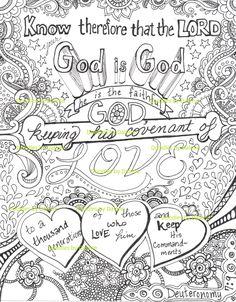 Printable Coloring for Meditation Deuteronomy by DoodlesbyDalene
