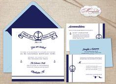 Southampton Premium Nautical Wedding Invitations
