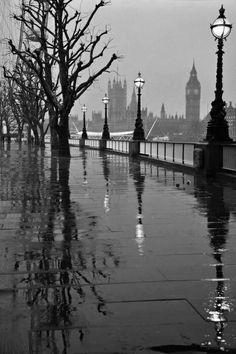 Rainy day in London.