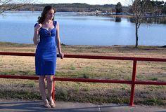 """The Musings of a Dedicated Housefiancee: New Look 6699 - The """"How Projects Evolve"""" Blue Sateen Dress"""