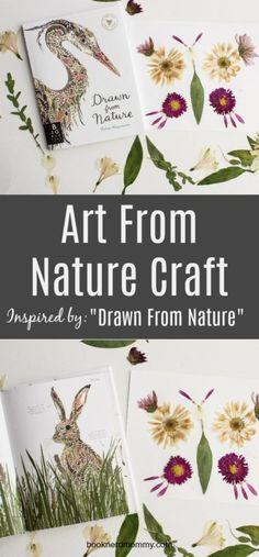 art form nature, nature cart, book craft, kids craft, preschool, drawn from nature, #bookcraft #naturecraft #kidsart #artforkids
