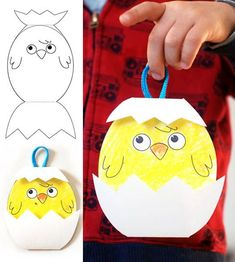 Civciv Yapımı Studies of chick making, activities handicraft work, and simple paper-cardboard studies of samples work. Easter Crafts For Toddlers, Easter Crafts For Kids, Toddler Crafts, Preschool Crafts, Kindergarten Activities, Back To School Crafts, Artisanal, Art For Kids, Creations