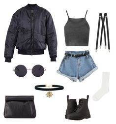 """""""Untitled #9"""" by sieon ❤ liked on Polyvore featuring Topshop, Dr. Martens, 3.1 Phillip Lim, Yves Saint Laurent, Charlotte Russe and Uniqlo"""