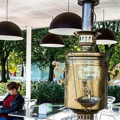 Not #Moscow's largest #samovar but damn close. #Moscow #travelblogger #russiancuisine #Russia #travel #travelsnaps