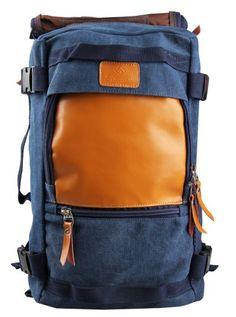 EABAG Unisex's New Style Fashion Outdoor Hiking Camping Travel Canvas Backpack Bucket Shoulder Bag (Blue) EABAG http://www.amazon.com/dp/B00JXCTRMS/ref=cm_sw_r_pi_dp_5k-gub1J7Z97W
