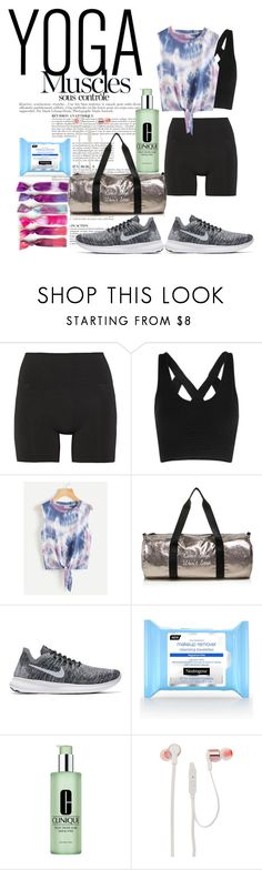 """Yogi"" by lauralydix ❤ liked on Polyvore featuring Anja, Lucas Hugh, Twelve NYC, NIKE, Clinique and JBL"