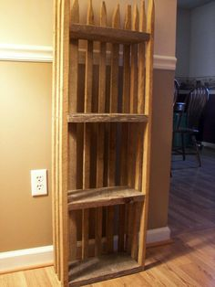 Made out of tobacco sticks think I found my new bookshelf idea!