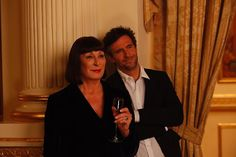 """Anjelica Huston and Jack Davenport in """"The Fallout"""" #Smash"""