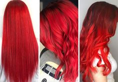 63 Hot Red Hair Color Shades to Dye for: Red Hair Dye Tips & Ideas Rote Haartöne und Farbideen: Fire Engine Red Hair Color Magenta Hair Colors, Bright Red Hair, Hot Hair Colors, Hair Color Auburn, Auburn Hair, Red Hair Color, Cool Hair Color, Color Blue, Cherry Red Hair