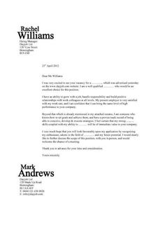 sample job cover letters