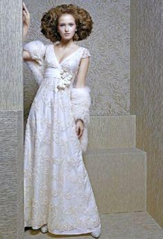 Russian wedding dress. #bride #dress #Russian #weddings