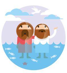 "Illustration ""The baptism of Jesus"" for the Magazin KLARTEXT (Bibellesebund) by JoussenKarliczek, www.j-k.de"