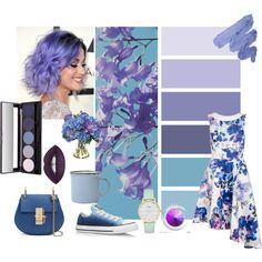 Violet May by nothing-out-of-the-ordinary on Polyvore featuring moda, Converse, Kate Spade, Diane James and canvas