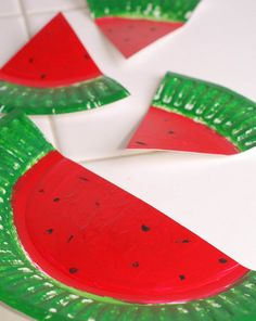 Activities: Watermelon Paper Plates: Math Skills, Fine Motor,Number Sense, Color & Shape Recognition