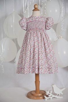 REBECCA - Hand Smocked Floral Dress