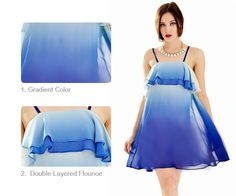 Gradient Royal Blue Slip Dress  More Discount on OASAP for Vallentine's Day!