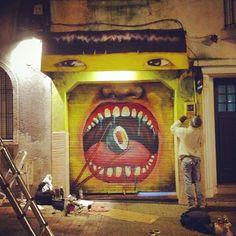 Street art in Uruguay by artist Maldito Bastardo. Photo by Maldito Bastardo.