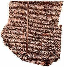 La tavoletta dell'Epopea di Gilgamesh è quella dove è contenuta la versione assira del Diluvio universale @stefania stravato