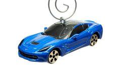 2014 15 16 Blue Corvette Sting Ray Car Christmas by BettyGiftStore