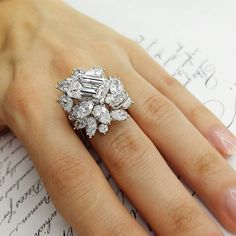 Diana M. Jewels Diamond Floral Ring