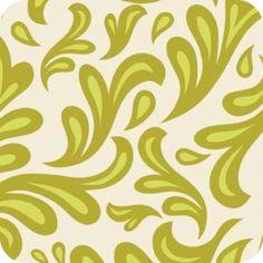 Green Swirls Sweet Nothing Fabric 1M Retro Riley Blake Shabby Chic Floral. | eBay