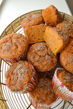 Delicious and moist sweet potato muffins