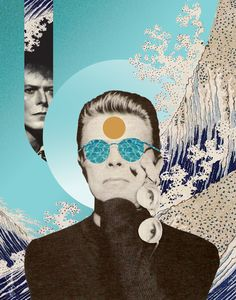 by Maia Valenzuela Music Collage, Collage Art, Art Collages, Mayor Tom, David Bowie Art, David Bowie Eyes, David Bowie Poster, Frida Art, Ziggy Stardust