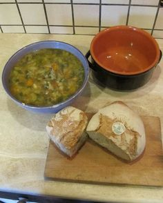 Minestrone- when re-boiled with stale bread is RIBOLLITA