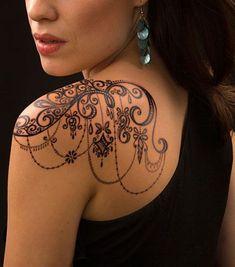 Only the best free Lace Shoulder Tattoo Designs tattoo's you can find online! Lace Shoulder Tattoo Designs tattoo's to print off and take to your tattoo artist. Mädchen Tattoo, Piercing Tattoo, Body Art Tattoos, Small Tattoos, Girl Tattoos, Tattoos For Guys, Tattoo Flash, Heart Tattoos, Devil Tattoo
