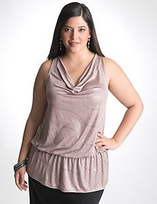 Plus Size Peplum Halter Top by Lane Bryant