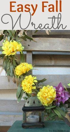 Easy fall wreath | theboondocksblog.com