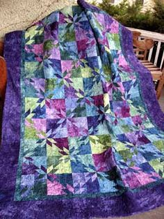 SAys it is a Orion Star Quilt Kit, but it looks like hunter's star to me. Star Quilt Patterns, Star Quilts, Easy Quilts, Quilt Blocks, Quilt Kits, Star Blocks, Amish Quilts, Sewing Patterns, Hunters Star Quilt