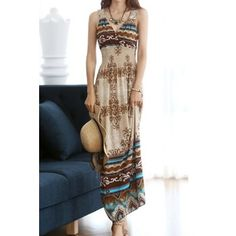 Bohemian Style V-Neck Floral Pattern Crochet Flower Color Block Women's Dress (AS THE PICTURE,ONE SIZE) in Bohemian Dresses | DressLily.com
