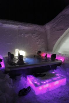"""Jacuzzi at Arctic SnowHotel, Rovaniemi, Lapland, Finland - """"Haluan olla täällä"""" Lapland Finland, Ice Hotel, Visit Santa, Arctic Circle, Helsinki, Jacuzzi, Hotels And Resorts, Europe, Norway"""