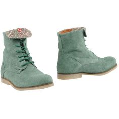 Nobrand Ankle Boots ($108) ❤ liked on Polyvore featuring shoes, boots, ankle booties, light green, leather ankle bootie, round cap, round toe booties, rounded toe boots and leather booties