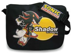 Shadow the Hedgehog in front of the moon | Sonic the Hedgehog: Shadow Messenger Bag