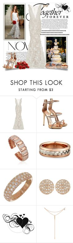"""Perfect Dress_The Perfect Wedding"" by msmith801 ❤ liked on Polyvore featuring Oscar de la Renta, Vanity Fair, WALL, Marchesa, Giuseppe Zanotti, Eli, Dana Rebecca Designs and Tacori"