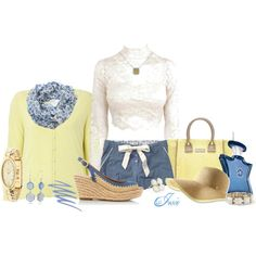 chambray & butter by josiriou on Polyvore
