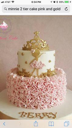 Gold Ballerina Princess - Cake by Bonboni Cake Ballerina Birthday Parties, Birthday Cake Girls, Ballet Birthday Cakes, Ballerina Party Decorations, Birthday Ideas, Gold Birthday Cake, 5th Birthday, Torte Ballerina, Ballerina Gold