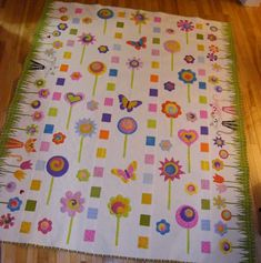 Such a wonderful quilt for a young girl  Rainbow Lollipops