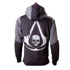 Sweat-Shirt Assassin´s Creed 4 Black Flag Zippé Skull Logo - 49,99€ - #Logostore