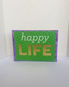 Canvas-Canvas Art-Canvas Print-Wall Art Canvas-Canvas Wall Hanging-Canvas Wall Decor-Happy Life 5x7 Canvas by Sixteen Canvas