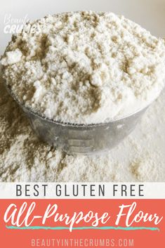 This easy gluten free flour blend is cost-effective and works cup-for-cup in most recipes. Learn how easy and inexpensive it can be to make your own flour blend! Food Recipes For Dinner, Food Recipes Deserts Gluten Free Flour, Gluten Free Diet, Foods With Gluten, Gluten Free Baking, Dairy Free, Best Gluten Free Recipes, Gf Recipes, Gluten Free Desserts, Healthy Recipes